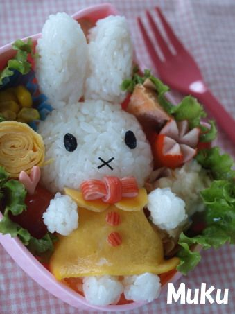 Kitty's friend Miffy bento^^♥