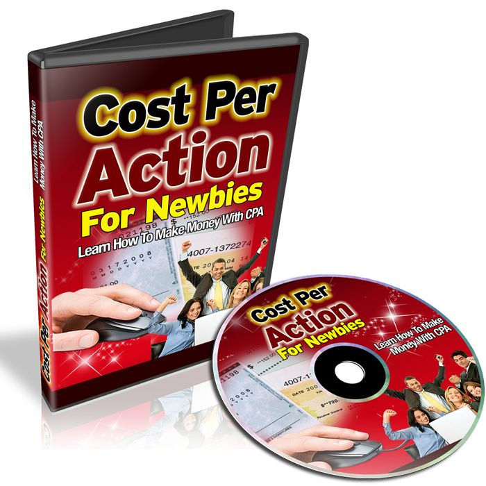 The #CostPerAction For Newbies #PLRVideos Series will show you step by step how to make money with CPA Networks. The 6 part #plrvideo series includes: Video 1: What CPA is and why you will want to get into it Video 2: List of CPA Networks Video 3: Signing up for CPA Networks and increasing your approval rate Video 4: Once you are in, then what?  CPA Types Video 5: Keyword Research Video 6: Create Landing pages that promote CPA offers Video 7: Promoting your site:  PPC Adwords, SEO