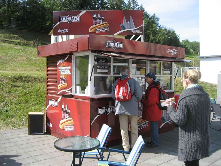 A fast food stand on the main street at Akureyri, Iceland.