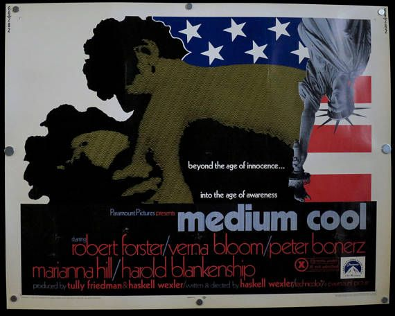 MEDIUM COOL  Rare Original U.S. Half Sheet Vintage 1969