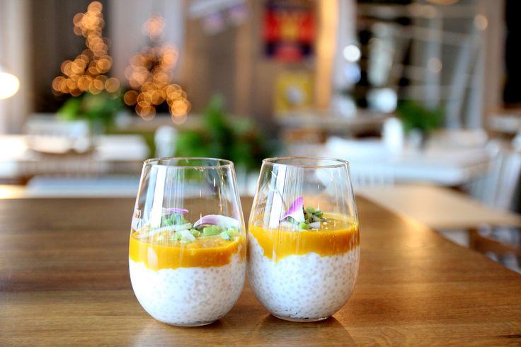 Na śniadanie ze strefy fit&healthy: Tapioka z mlekiem kokosowym, sosem mango i imbirem (v) /Concordia Taste/ Tapioca with coconut milk, mango sauce and ginger (v), healthy food, breakfast, brekfasttime, christmas