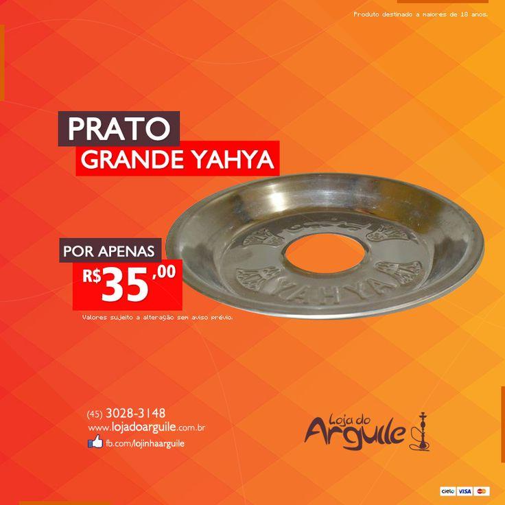 PRATO GRANDE YAHYA De R$ 40,00 / Por R$ 35,00 Em até 7x de R$ 5,62 ou R$ 33,25 via depósito  Compre Online: www.lojadoarguile.com.br/prato-grande-yahya