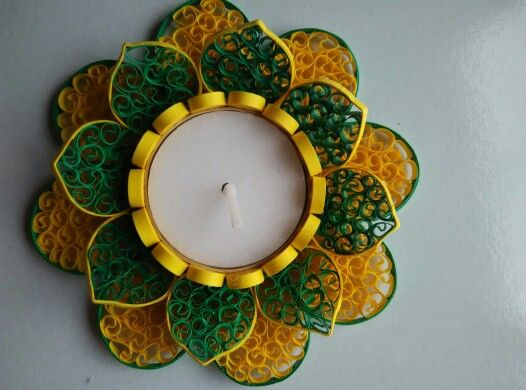 Quilling candle holder from Sanskruti Art & Crafts