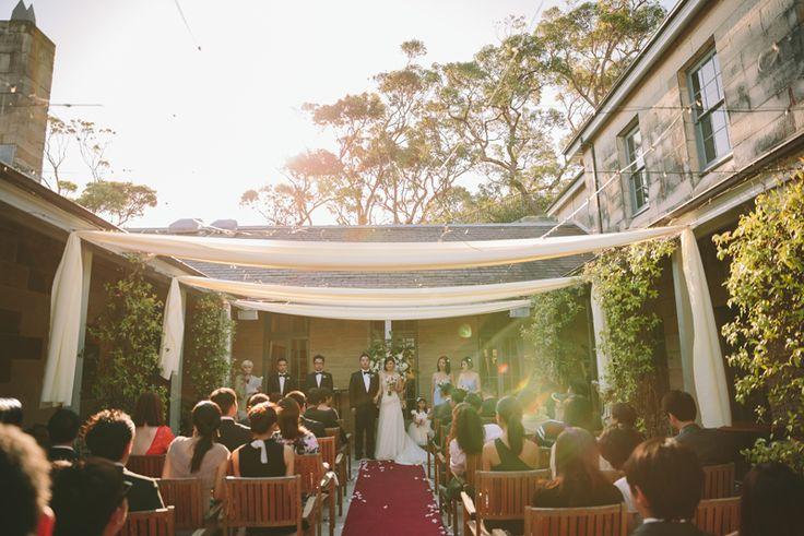 Gunners Barracks Tea Room Wedding Ceremony. Image: Cavanagh Photography http://cavanaghphotography.com.au