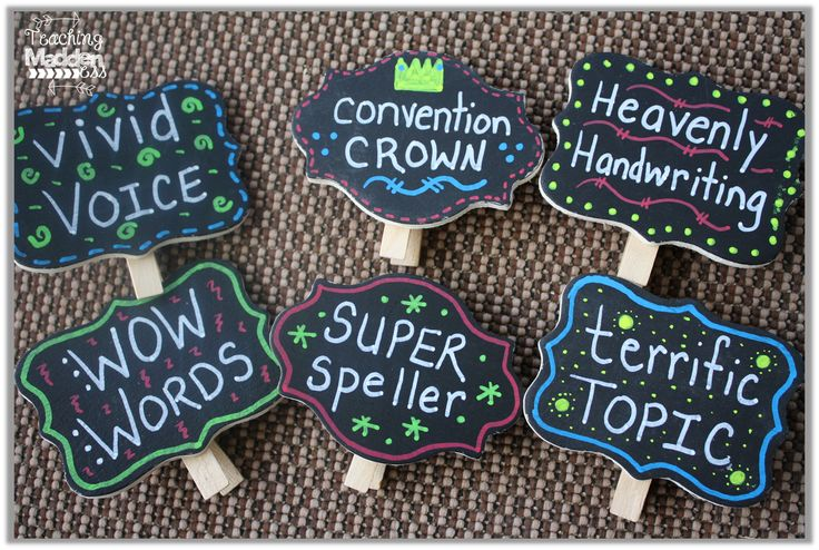 Highlight writers by hanging their work in these cute clips that have specific praise.