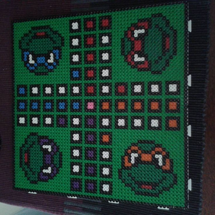 TMNT ludo board nabbi beads by elgur_beads