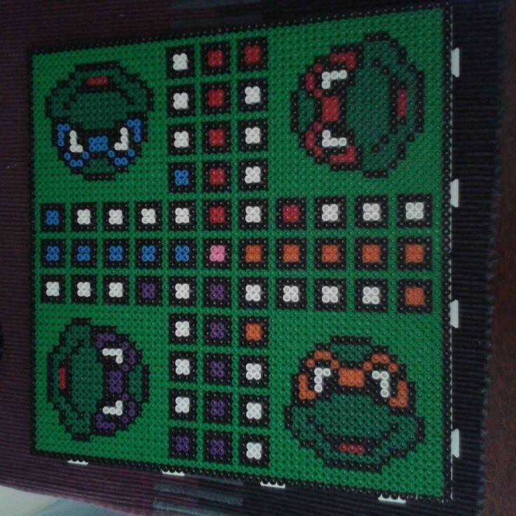 TMNT ludo board nabbi beads by elgur_beads
