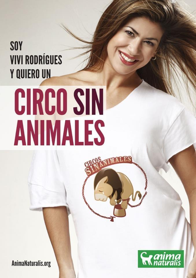 """Hoy Vivi también se une a la campaña que promueve AnimaNaturalis, demostrando toda la preocupación, respeto y compromiso que siente por las causas animalistas. Ella dice: """"No más circos con animales"""" ¿y tú?  Firma aquí: http://www.animanaturalis.org/n/36509"""