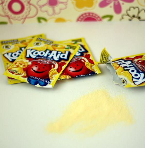 Kool Aid Nail Polish Stains: You Can Use Lemonade Flavored Kool-Aid To Remove Lime