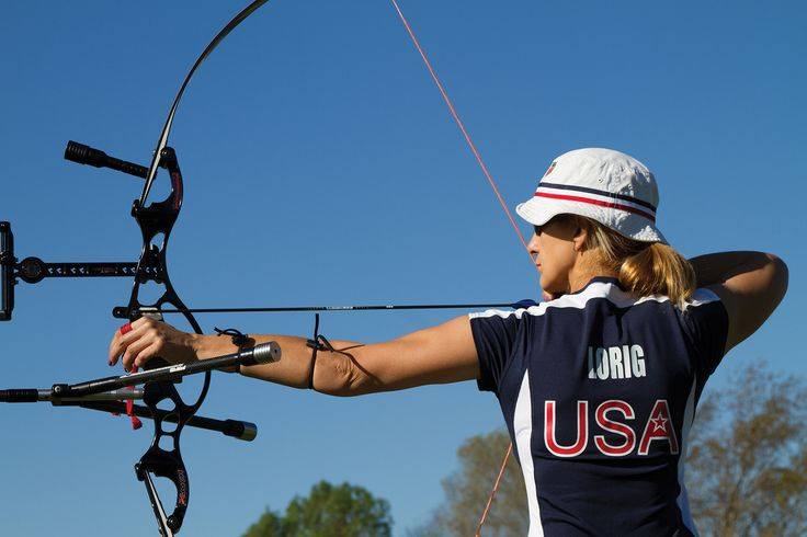 Professional archer Khatuna Lorig, who took 4th place individually at the 2012 London Olympic Games. She is also Jennifer Lawrence's archery coach.