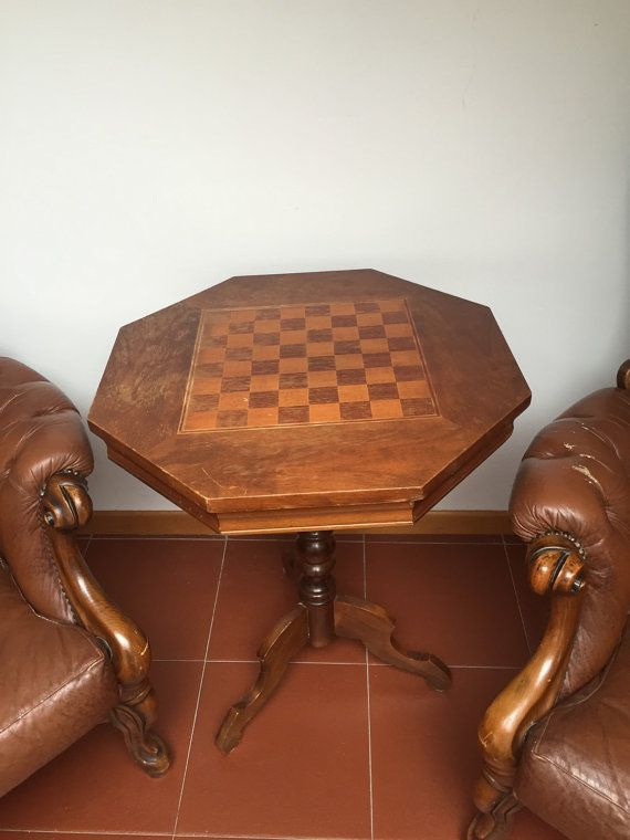 Game table by tanievintageitaliy on Etsy