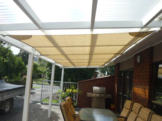 shade sails over deck - Google Search