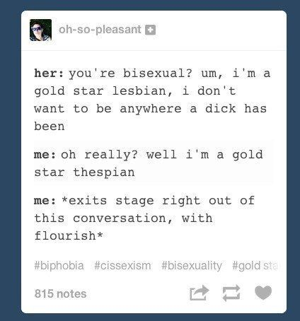 Bisexual come backs