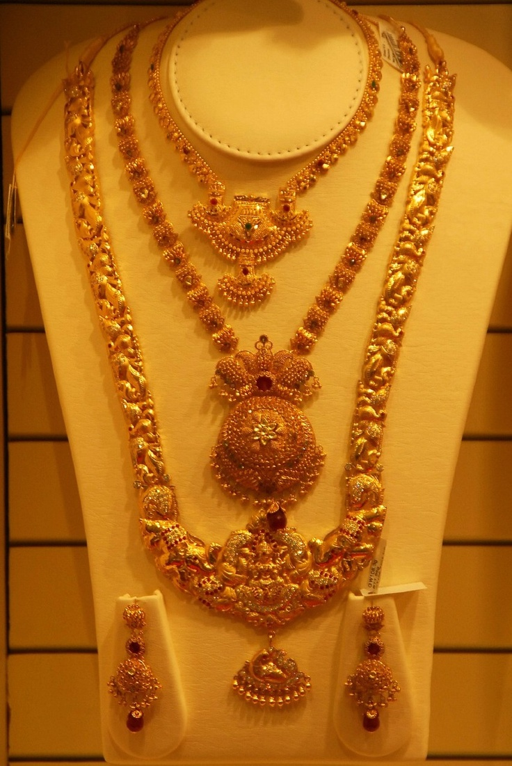 Beautiful 22 carat gold chains with matching pendant designs latest - Home 22 Carats Antique Jewellery Bridal Jewellery Gold Jada Gold Necklace