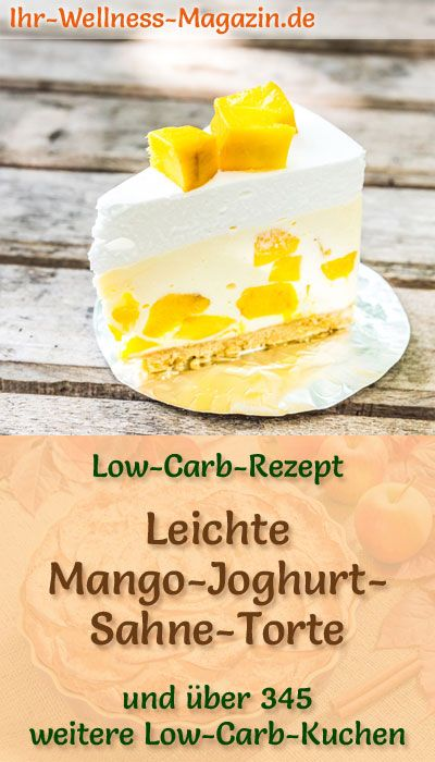 Fast Low Carb Mango Yoghurt Quark Pie – recipe without sugar
