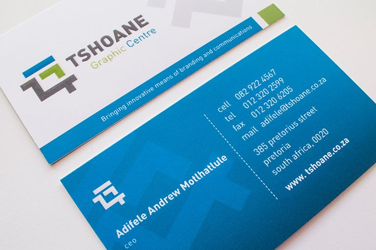 Tshoane Business Cards