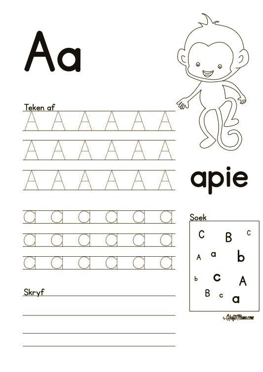 Leer Alfabet, Afrikaans