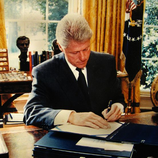 """Bill Clinton was just 46 years old when he took office in 1993, so barely in his mid-50s as he """"retired"""" from the White House. Description from blog.americanheritage1.com. I searched for this on bing.com/images"""