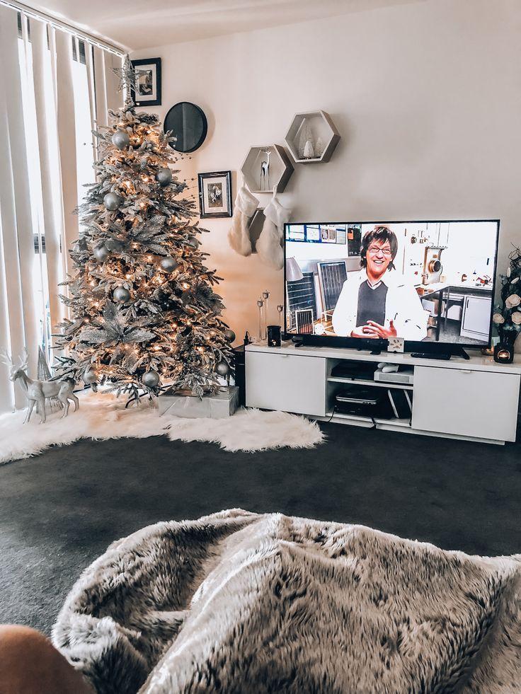 Hvid Og Solv Jul Target Christmas Decor Christmas Decor Inspiration Kmart Christmas Trees