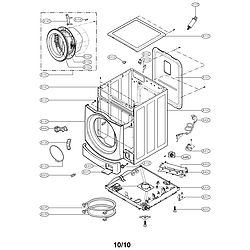 LG Washer Cabinet and control assembly Parts (WM3455HW)