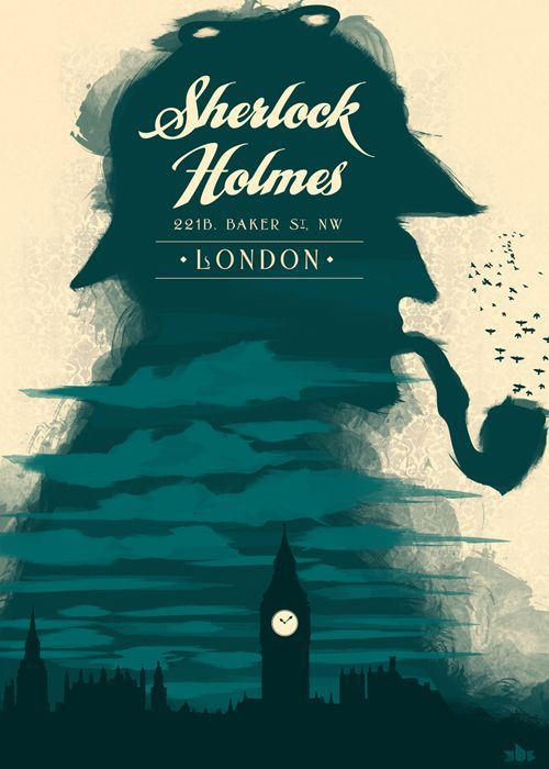 Sherlock Holmes: Sherlock Bbc, Design Inspiration, Books Covers, 221B Baker Street, Covers Books, Retro Posters, Posters Design, Graphics Design, Sherlock Holmes
