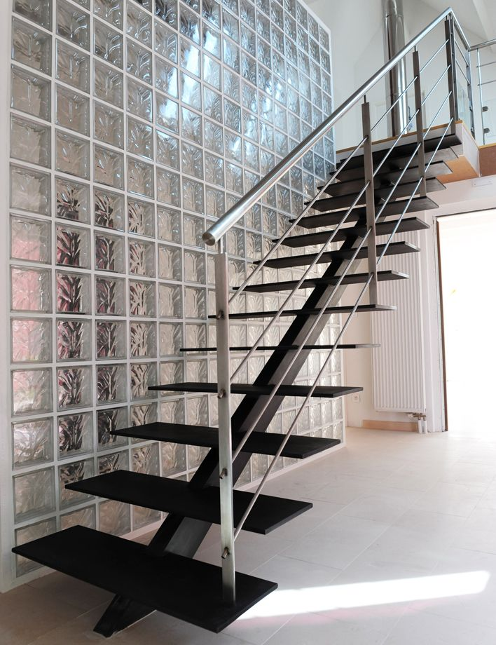 1000 images about descente escalier on pinterest cable for Garde corps interieur escalier