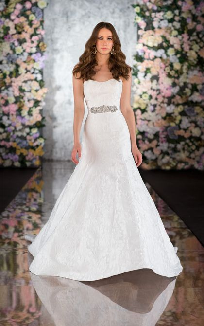 Exclusive designer fit and flare wedding dress by Martina Liana. (Style 563)