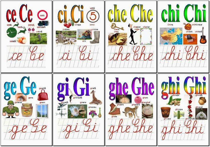 Materiale didactice de 10(zece): Alfabetul limbii române