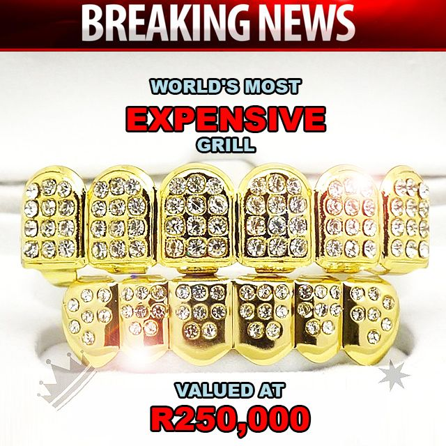 World's #MostExpensive #grill dentist creates pure gold, diamond-encrusted dentures! READ MORE #BreakingNews http://bit.ly/25xpIg2