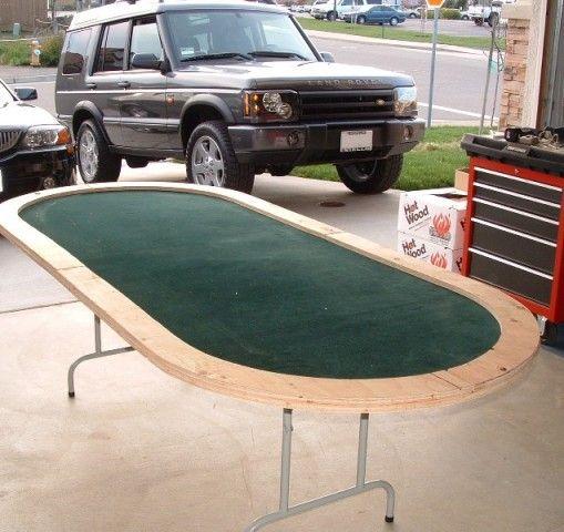 Homemade poker table felt cover.  https://apps.facebook.com/cartel-poker