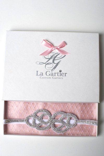 Wedding Garter Rhinestone Couture Bridal by LaGartierGarters