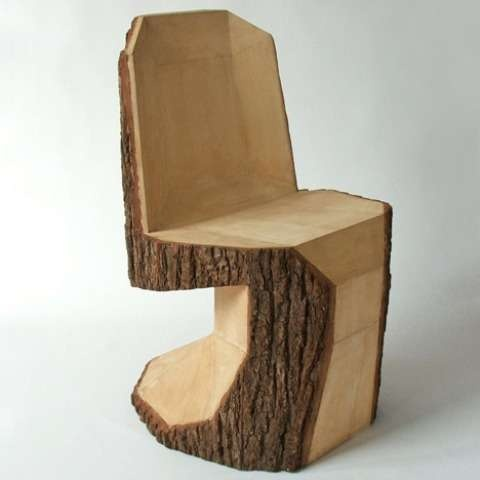 Tree stump chair:) I could use this for the parents of the bride and groom:-)