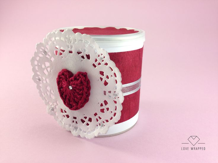 Beautifully wrapped tin for a small gift