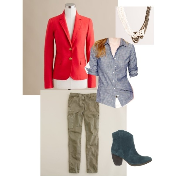 """""""Red blazer outfit"""" by audreyjean on Polyvore"""