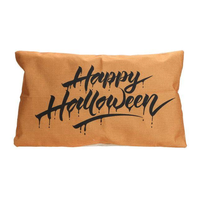 30* 50cm Halloween Pillow Cover Pumpkin Cotton Pillowcases Home Decor Cheap Cushion Covers for Sofa