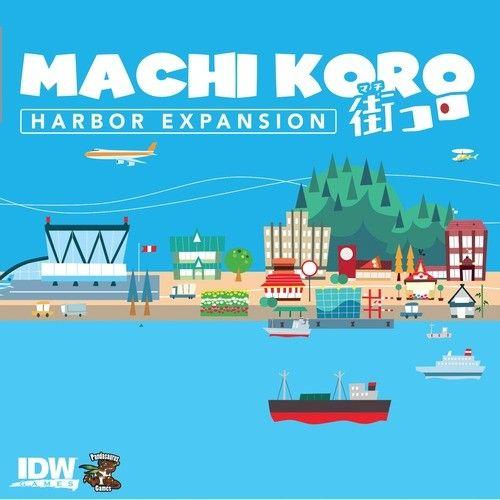 Machi Koro: Harbor Expansion, a.k.a. Machi Koro Plus, expands the Machi Koro base game by adding thirteen new types of cards: ten new establishments, one new starting establishment, and two new landmarks.