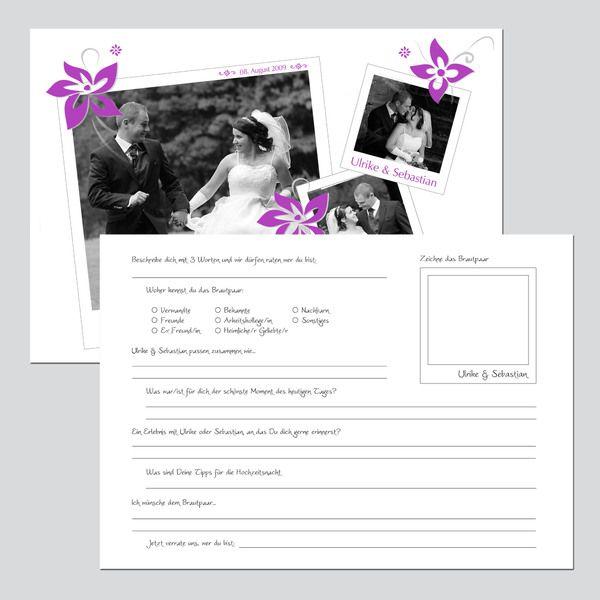 Gästebuch mit Steckbrief für Hochzeitsgäste - NEU von Sweets for your Sweets auf DaWanda.com