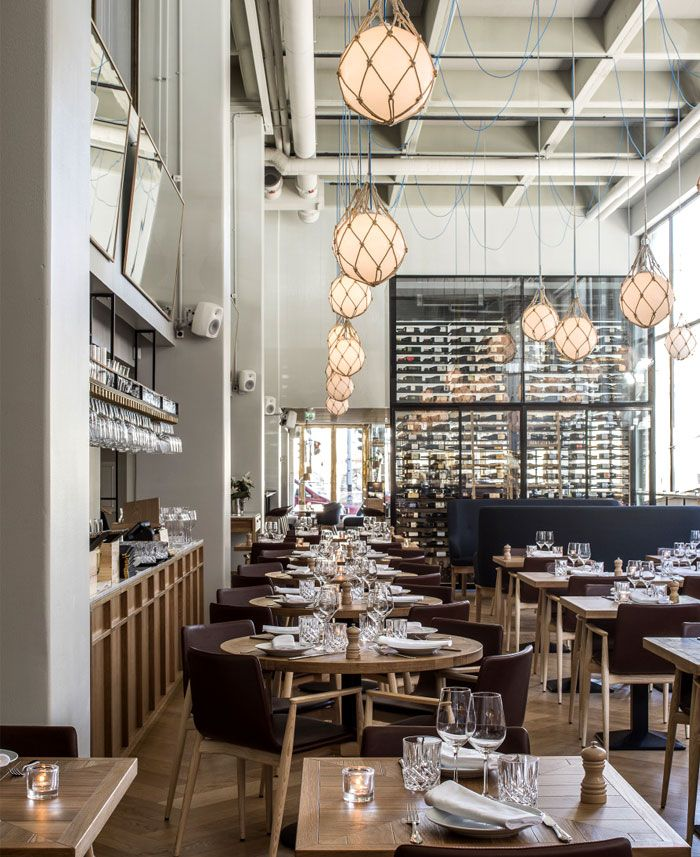 17 best images about caf restaurant interiores for Interior design inspiration industrial