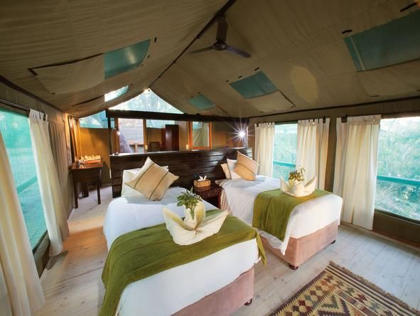 Breathtaking views over the Delta - Gunn's Camp - #Botswana #Romantic #Beds #africa #weloveafrica