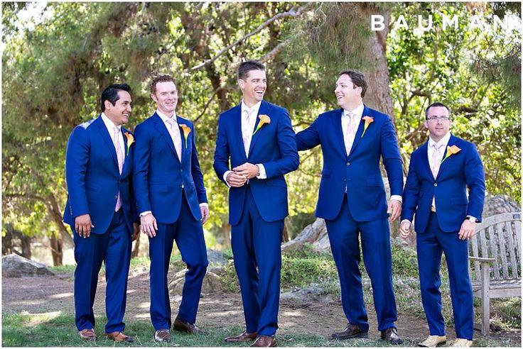 These guys look great in their blue suits! So sleek!   Rancho Santa Fe Wedding, Photography by Bauman Photographers  View More: http://baumanphotographers.com/blog/weddings/2014/05/fairbanks-ranch-country-club-rancho-santa-fe-ca/