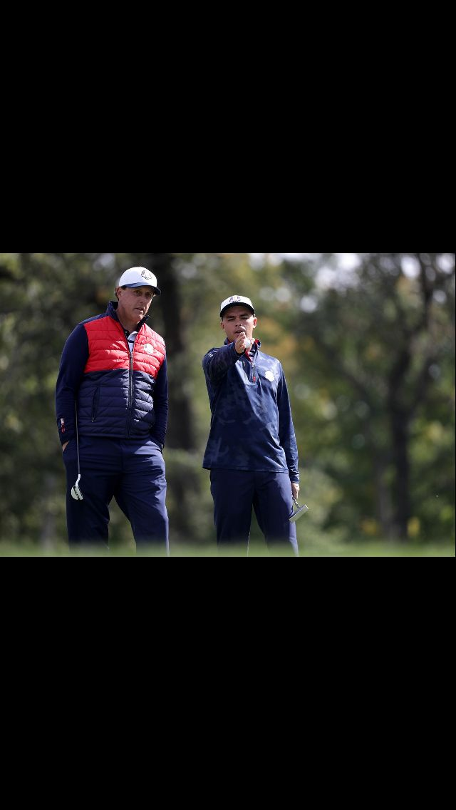Rickie and Phil at the 2016 Ryder Cup
