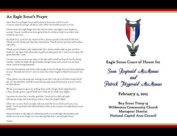 175 best eagle scout ceremony images on pinterest boy for Eagle scout court of honor program template