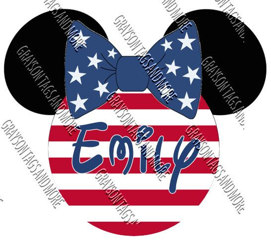 Patriotic Mickey or Minnie Head 2 sizes to by GraysonTagsandMore. Cruise DoorMagnets