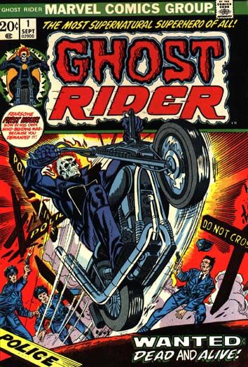 Ghost rider ideas for my comic cover..I like this as it is colourful but I feel…