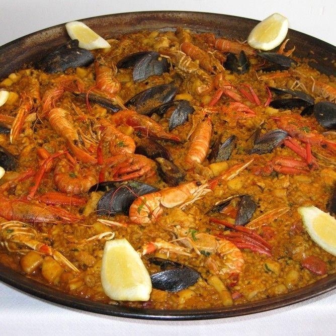 Paella de pescado y marisco restaurante ca n 39 eduardo - Paella de pescado ...