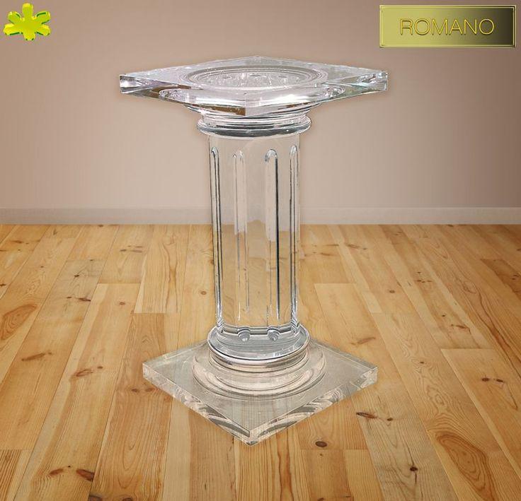 COLONNE IN PLEXIGLAS | Colonna in plexiglas 01.mod.  ROMANO   | Colonne plexiglass fusto diam.cm.20 - piani cm.40 x 40 sp.cm.4 - h.tot.cm.75