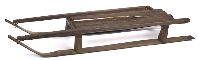 Dog sled made by Angus LaSage of the Grand Portage Band of Lake Superior Chippewa, ca. 1910-1930. © Minnesota Historical Society. All rights reserved