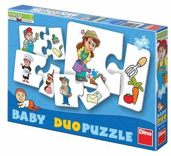 Baby puzzle profese 9x2D