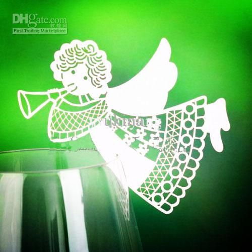 Wholesale Wine Glass - Buy Laser Cut Swan Place Cards Wine Glass Charming Wedding Cake Toppers Party Decorations Paper Table Name Cards 120p...