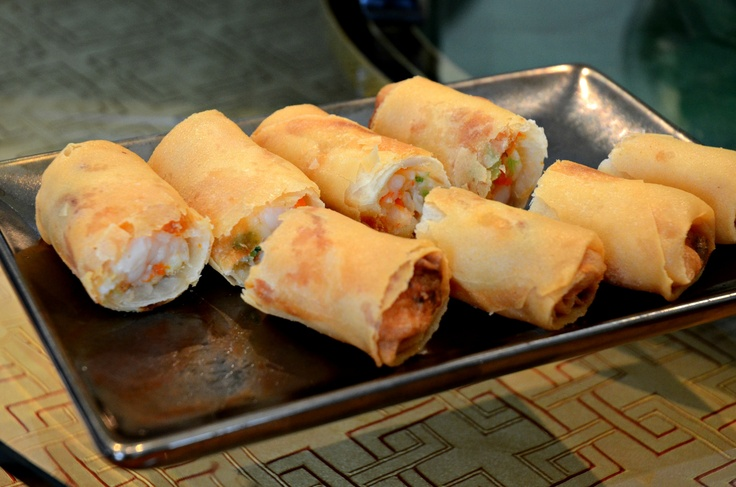 Crispy Spring Rolls with Crabmeat and Prawn @ Yah Toh Heen